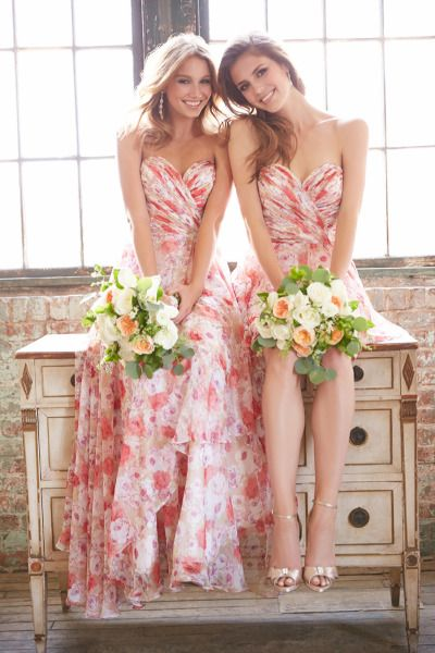 Floral Bridesmaid Dresses Are The Wedding Trend