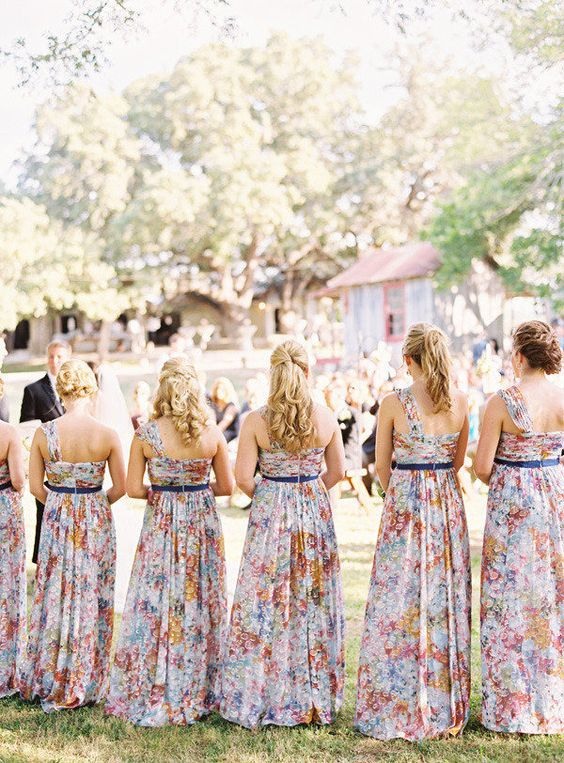 Pretty in Floral Print Bridesmaid Dresses