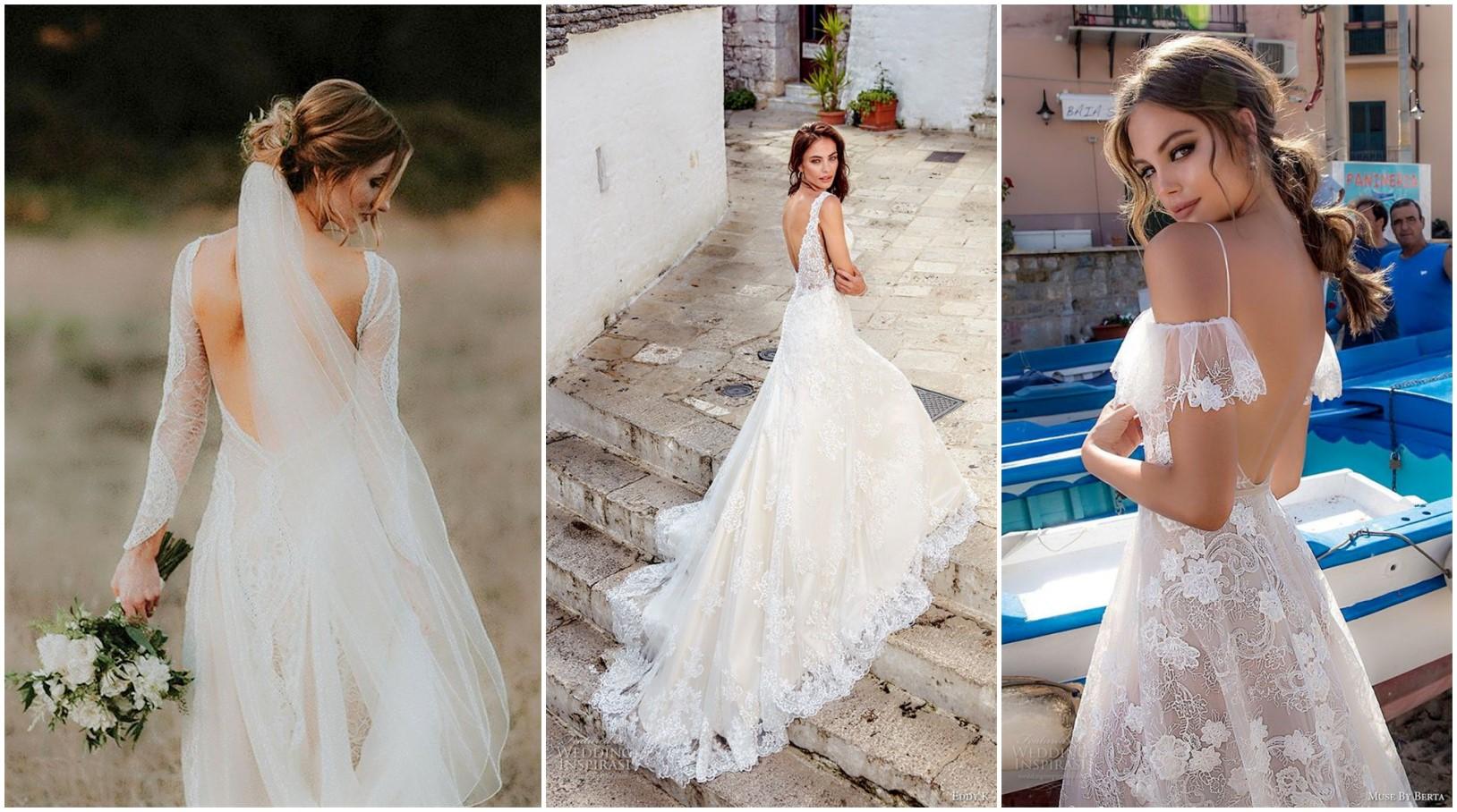 Breath-taking Backless Wedding Dresses