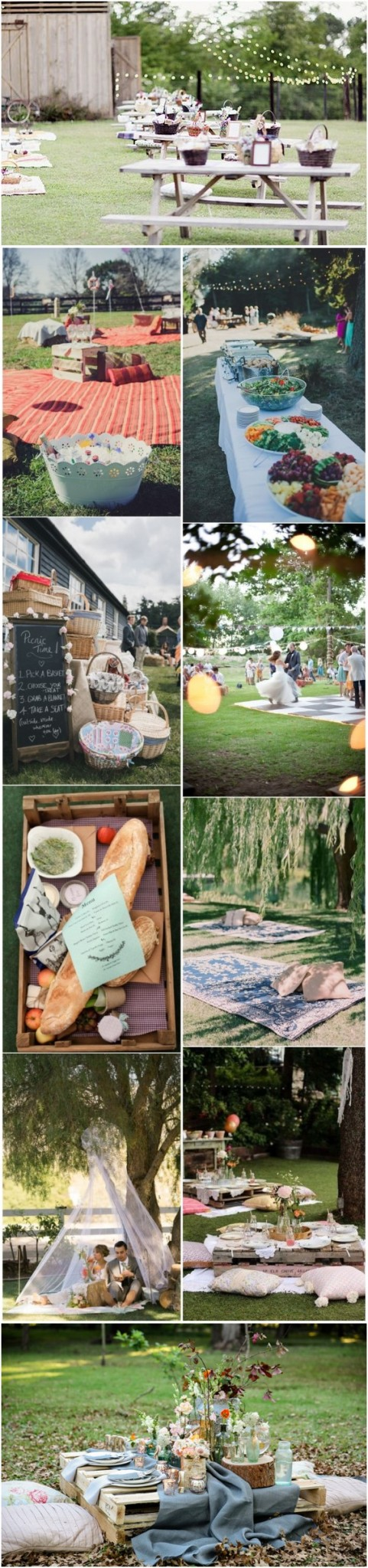Budget Friendly Picnic Wedding Reception Ideas
