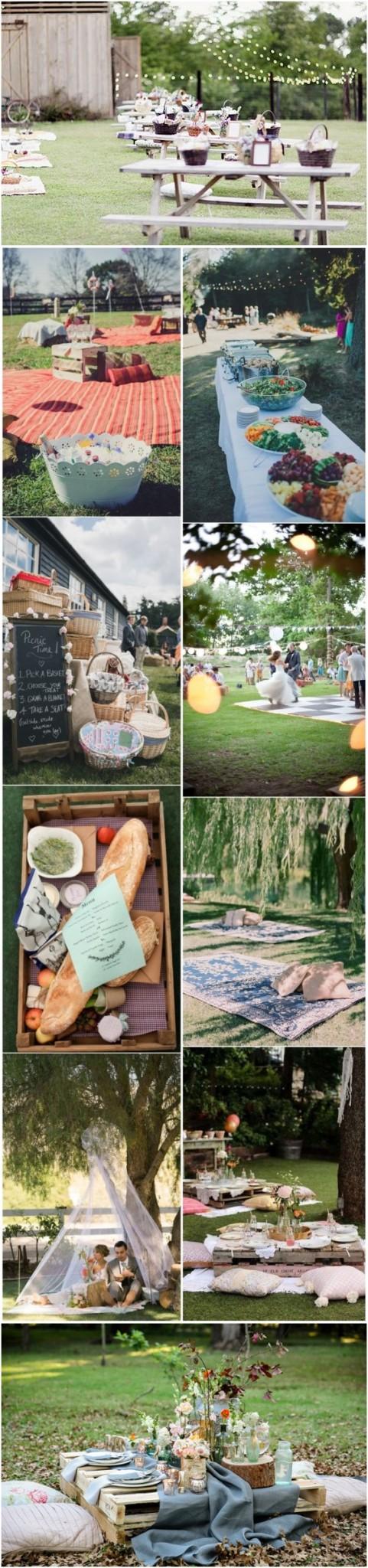 Budget Friendly Picnic Wedding Reception Ideas