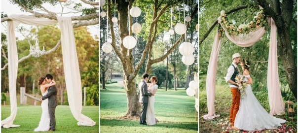 Stunning Tree Wedding Backdrop Ideas