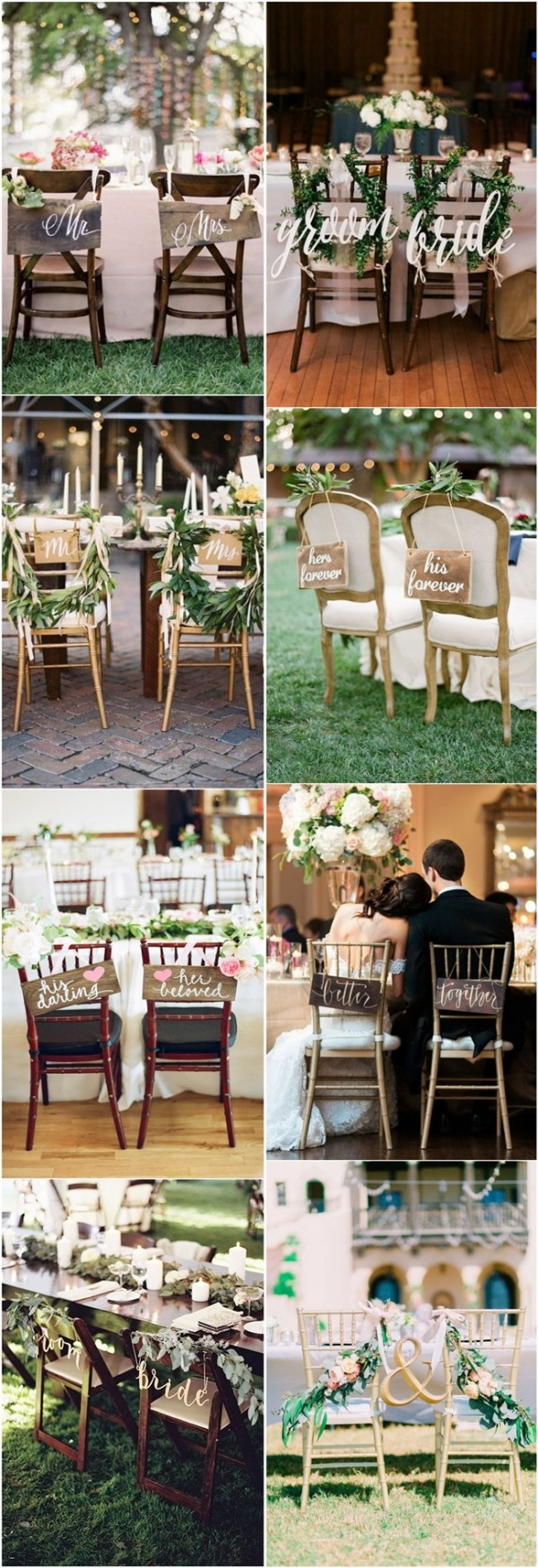 Wedding Chair Decoration Ideas for Bride and Groom