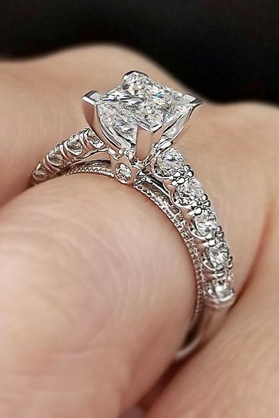 5k wedding ring 20 most loved princess cut engagement rings 1164