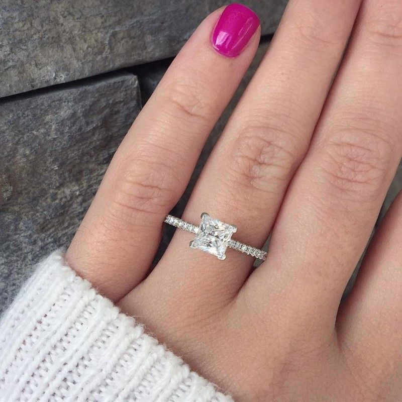 20 Most Loved Princess Cut Engagement Rings Weddinginclude