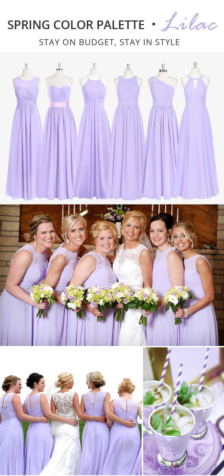 Trending Spring Color Palette for Your Bridesmaid Dresses-Lilac