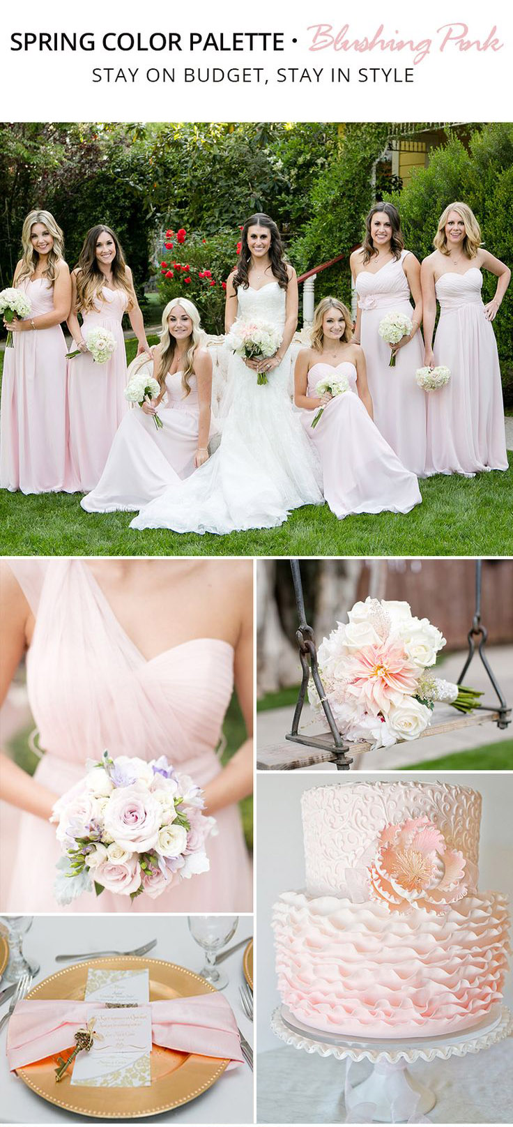 Trending Spring Color Palette for Your Bridesmaid Dresses-blushing-pink