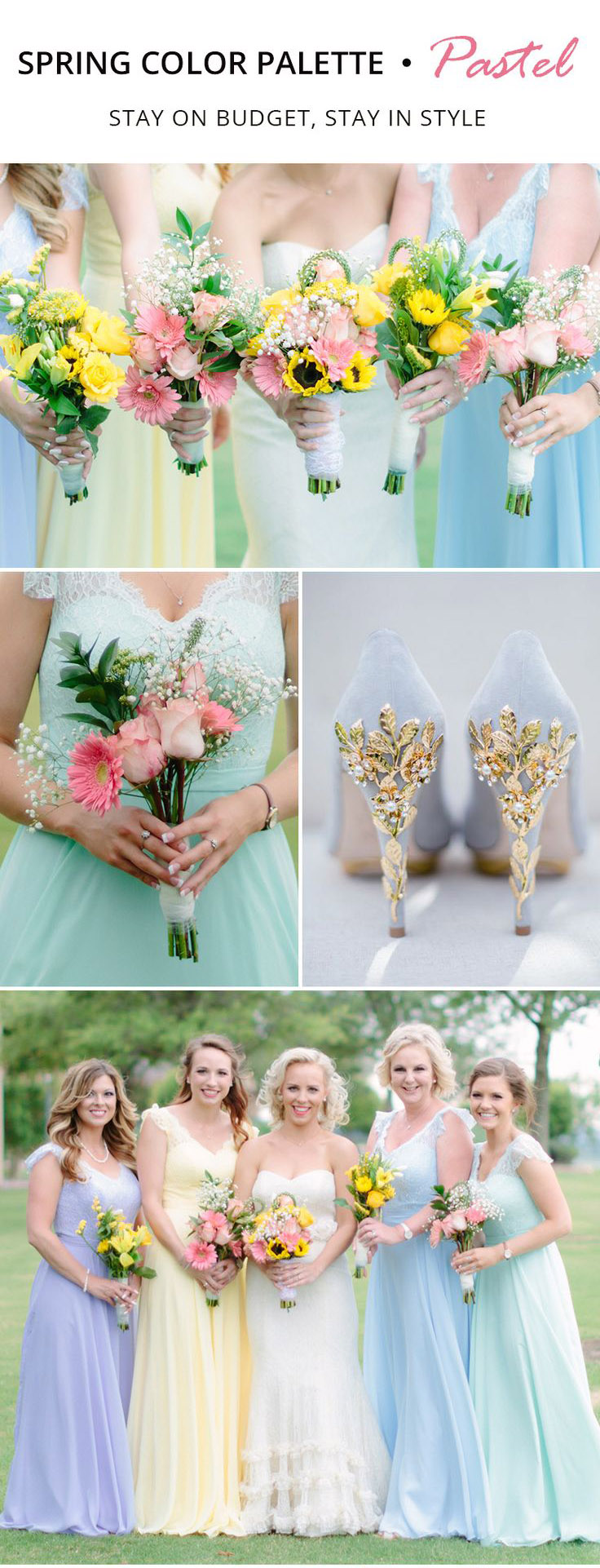 Trending Spring Color Palette for Your Bridesmaid Dresses-pastel