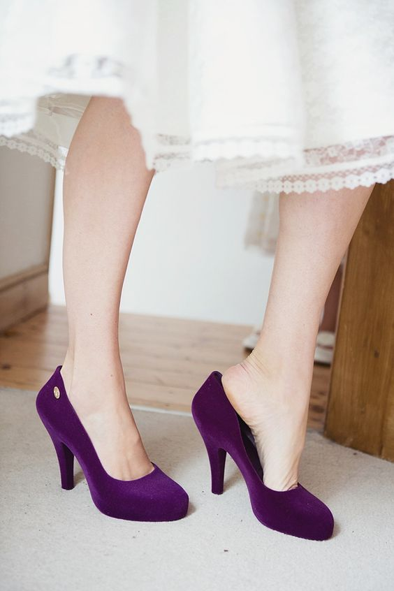 Amazing Purple Wedding Shoes!