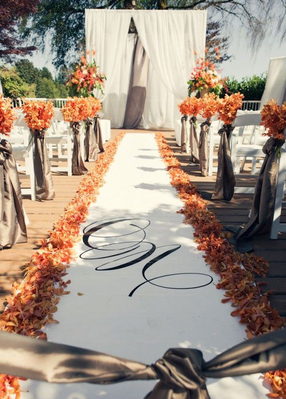 Awesome outside fall wedding ideas