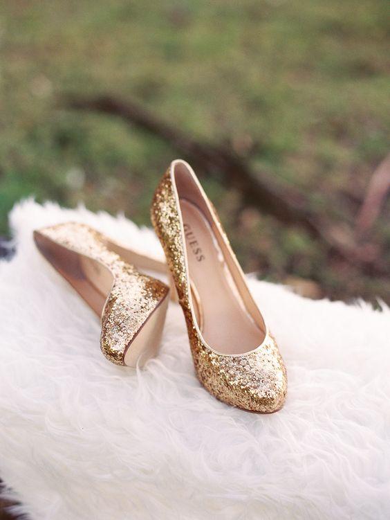 20 Drop Dead Gorgeous Gold Wedding Shoes Ideas