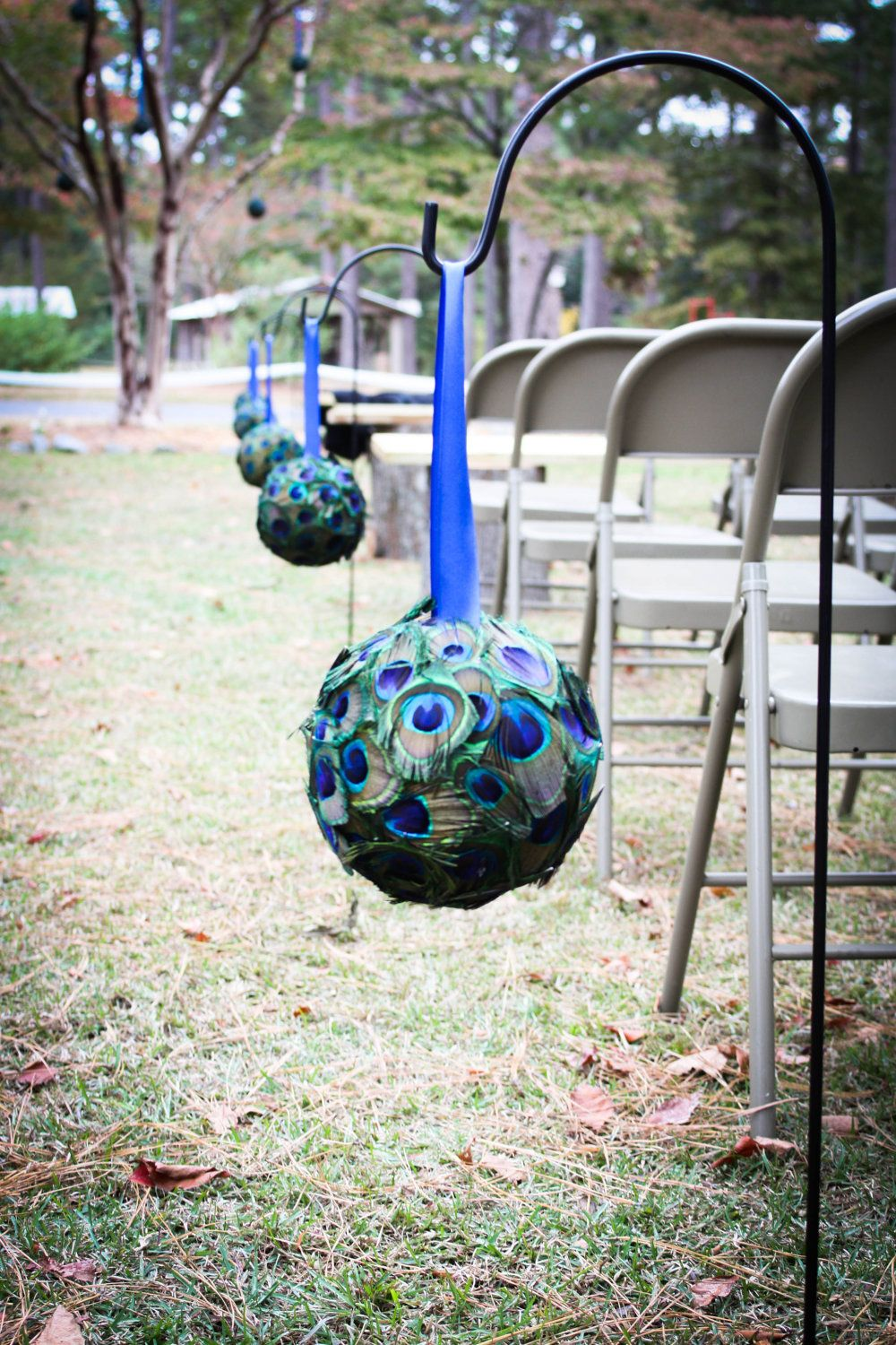 Peacock Wedding Peacock Pomander/Kissing Ball