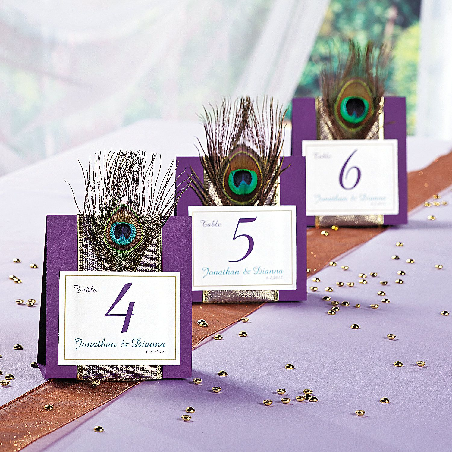 Peacock Wedding Table Numbers