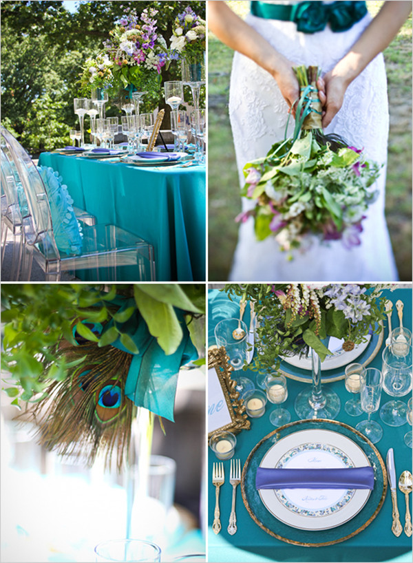 Wonderful Peacock Wedding Decorations