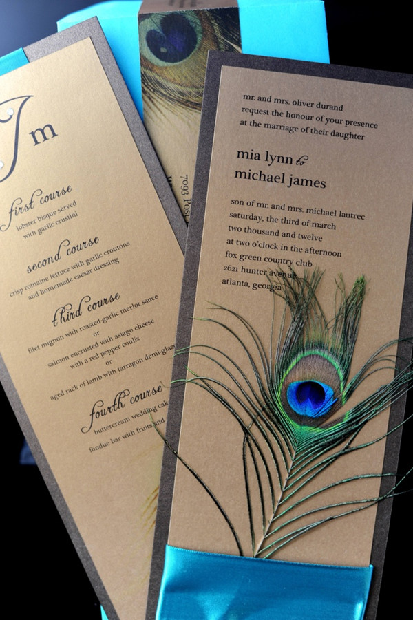 Pecock Wedding Invitations