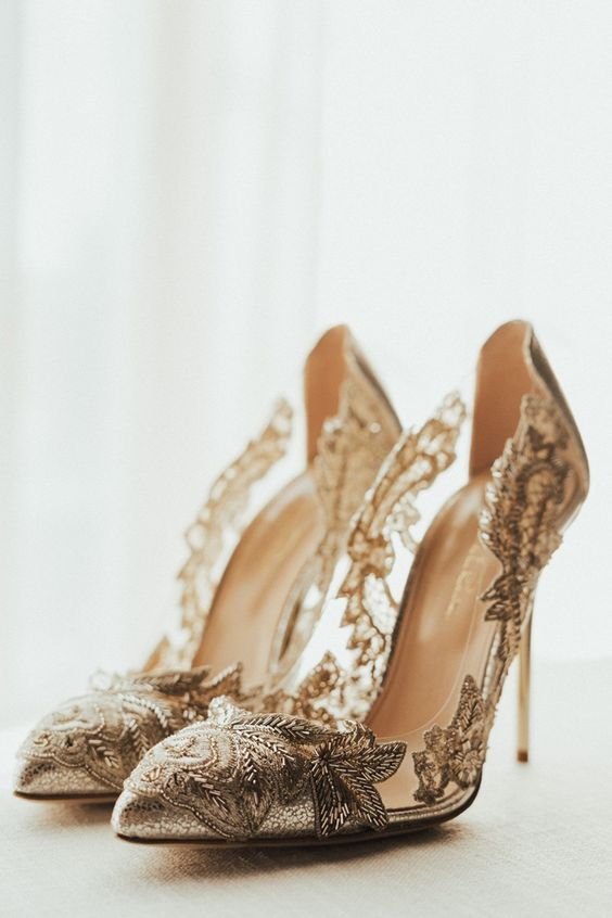 When you have already picked the right dress a new important issue comes up  wedding shoes.