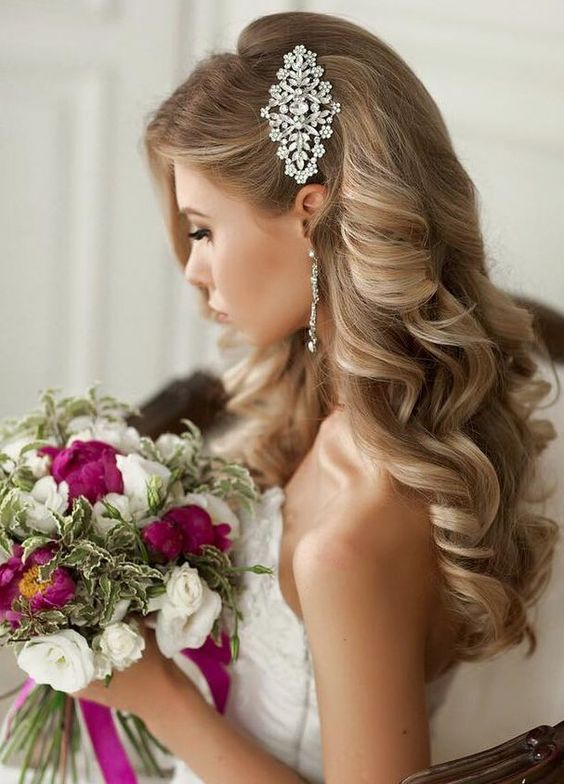 Elegant chic wedding hair accessories