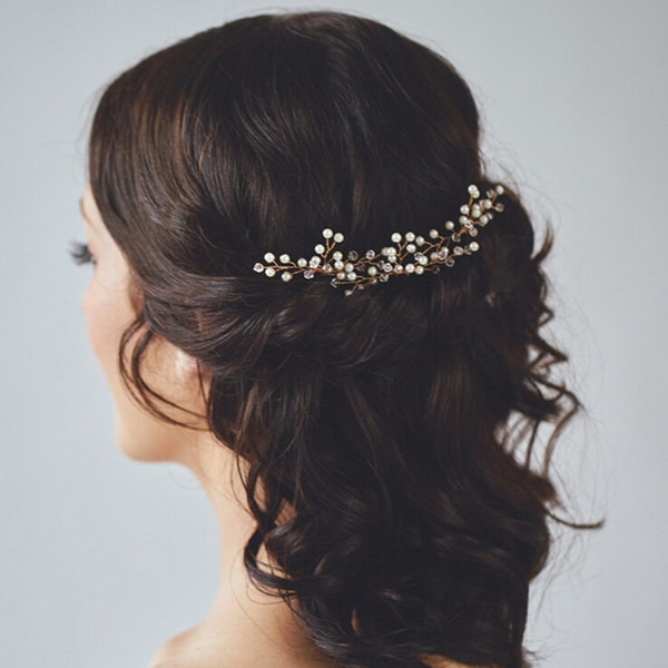 pearl crystal wedding bridal hair pins