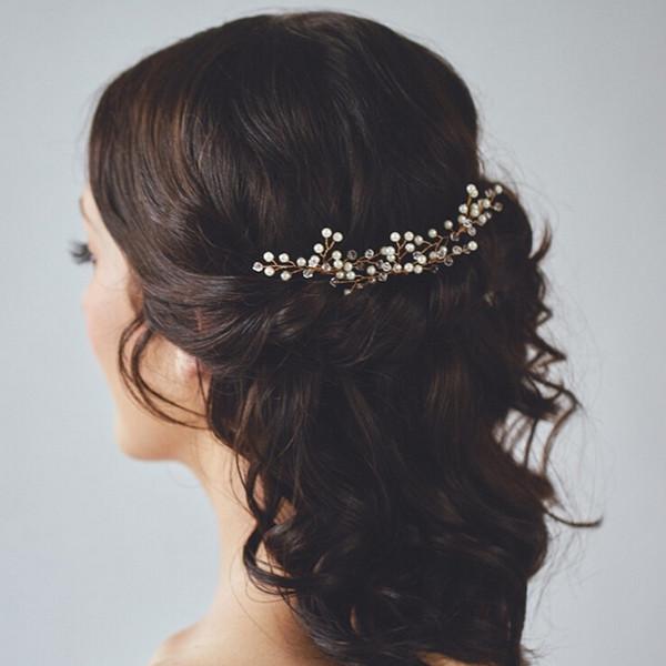 pearl crystal wedding bridal hair pins