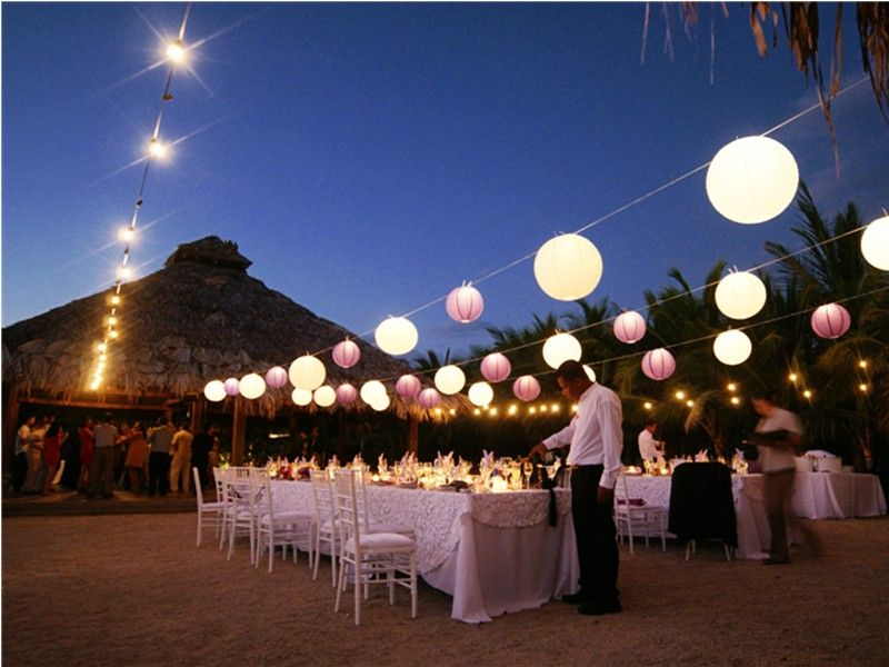 Light up Your Wedding with These 18 String Lights Ideas