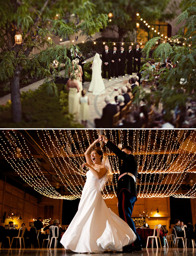 Light up your wedding with these 18 string lights ideas aloadofball Images