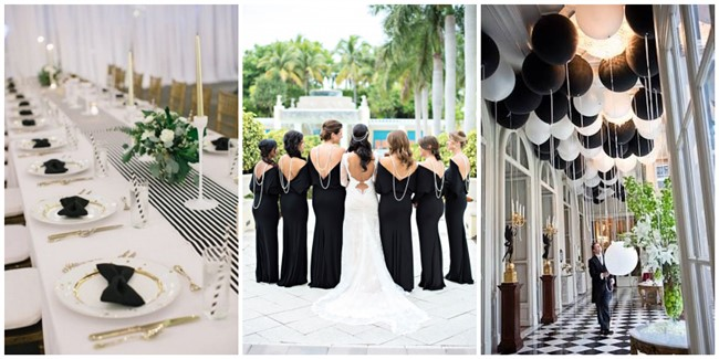Reasons Why We Love Black and White Wedding Ideas
