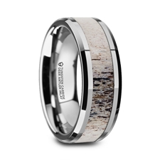 BUCK Polished Beveled Tungsten Carbide Men's Wedding Band