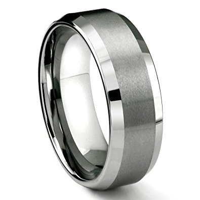 8MM Tungsten Carbide Men's Wedding Band