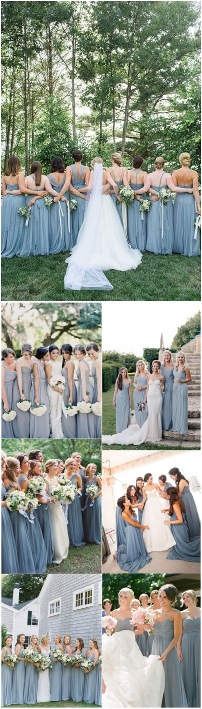 15 Dusty Blue Bridesmaid Dresses Your Girls Can't Resist!