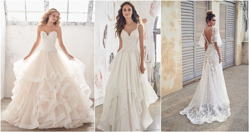 4 Flattering Wedding Dresses That Complete Your Bridal Look