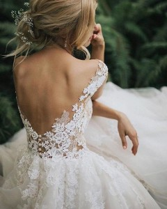 Flattering Wedding Dresses That Complete Your Bridal Look - open back wedding dresses 2