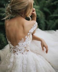 Flattering Wedding Dresses That Complete Your Bridal Look - open back wedding dresses 2