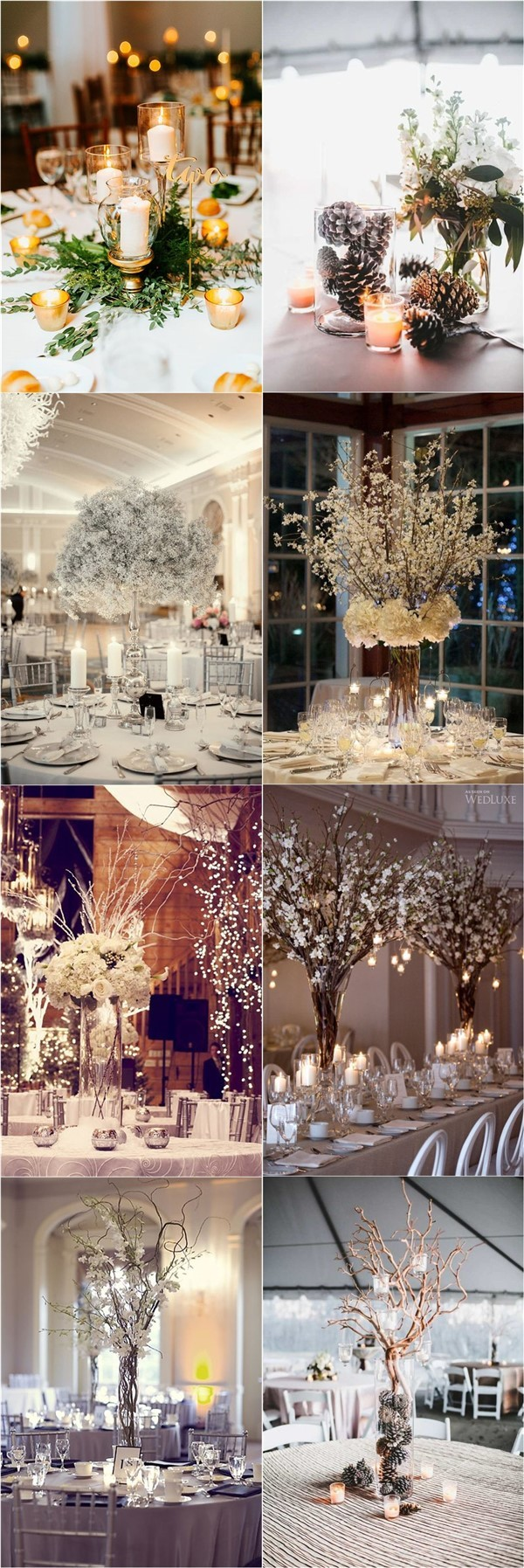 19 Winter Wedding Centerpieces to Warm Your Big Day Up