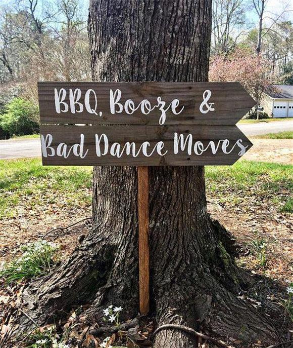 I Do BBQ Sign, Wedding Sign