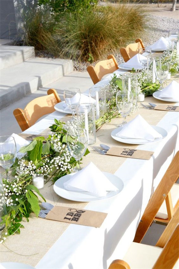 Guest tablescape from an
