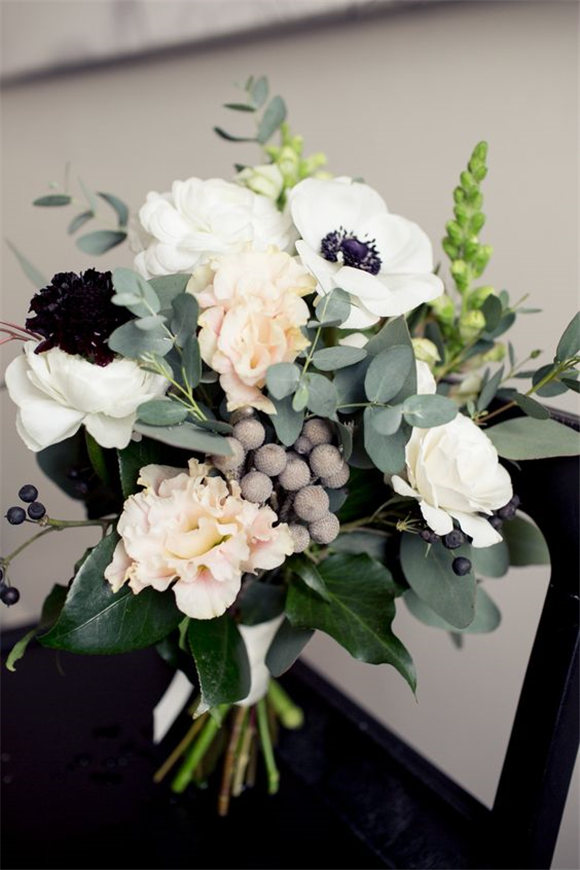 Vintage Speakeasy Style Wedding Bouquet