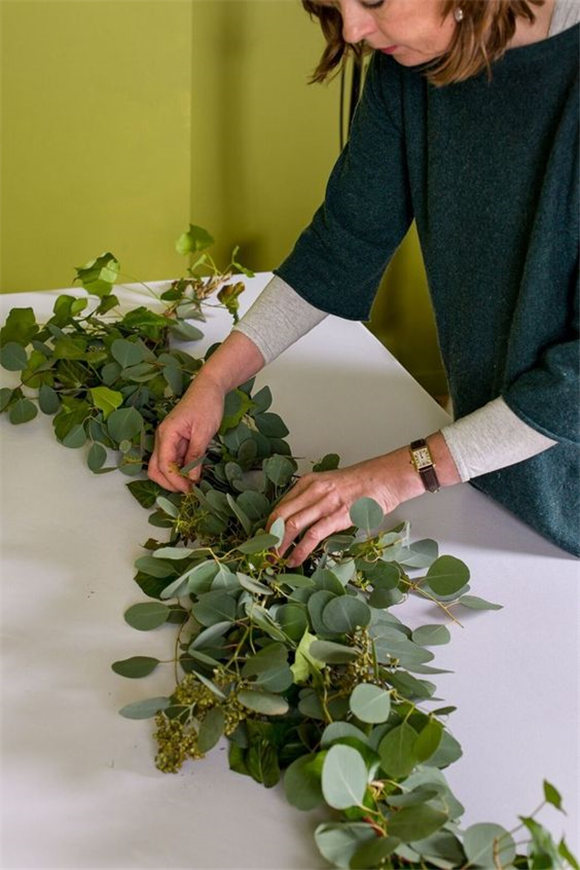 Make A Greenery Table Garland