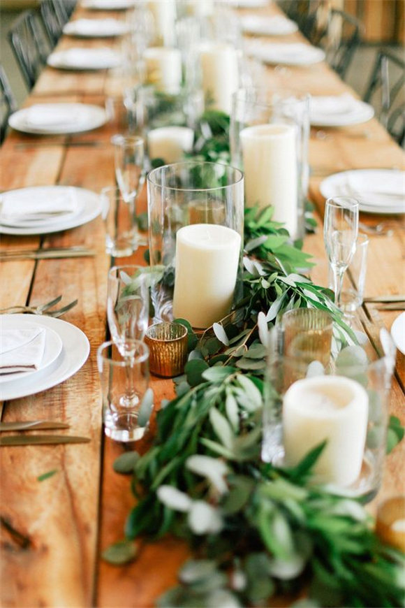 Fresh Wedding Trend: Greenery Only