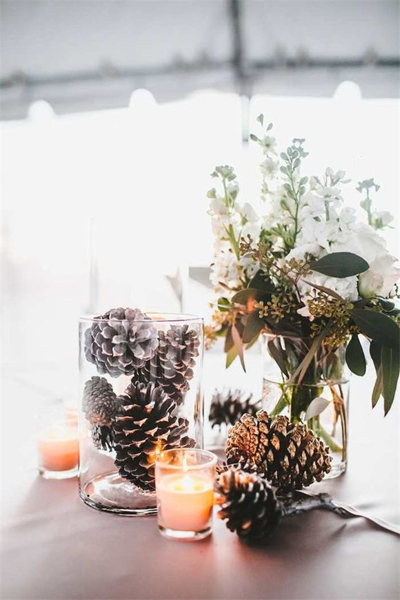 winter wedding centerpiece idea