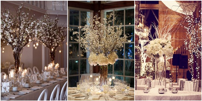 Winter Wedding Centerpieces to Warm Your Big Day Up