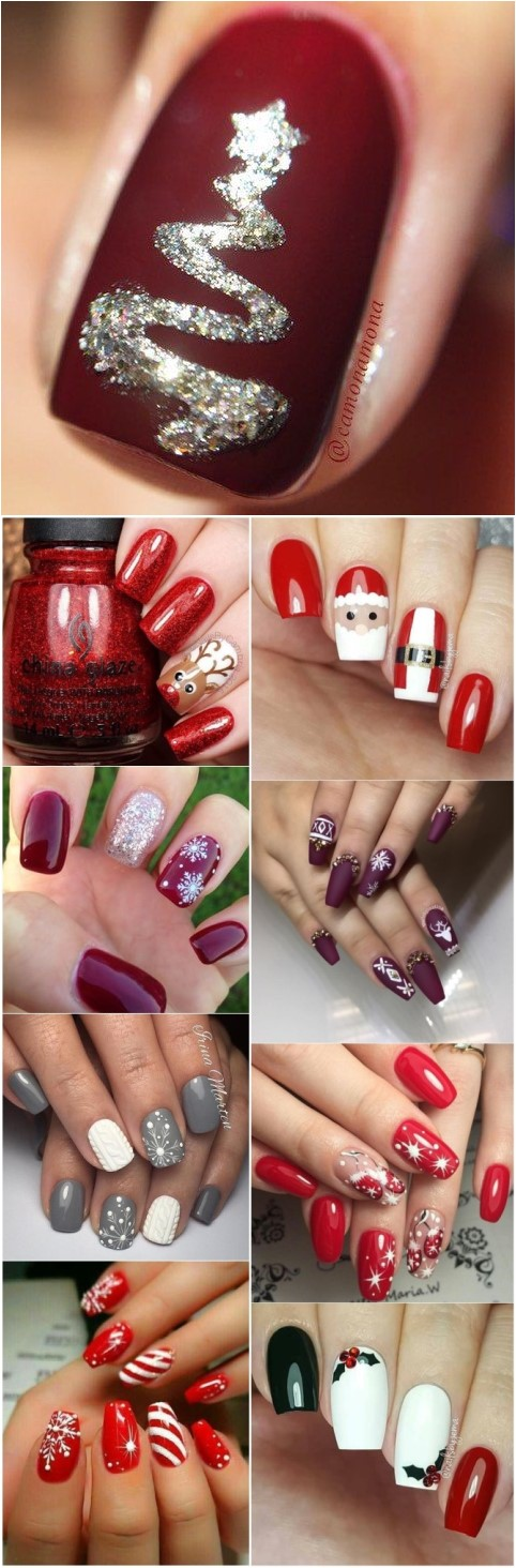 18 Christmas Nail Art Design Ideas for 2018 That Are In Trend