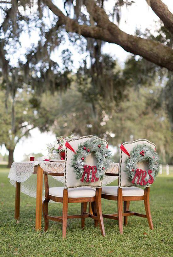 Christmas wedding décor ideas
