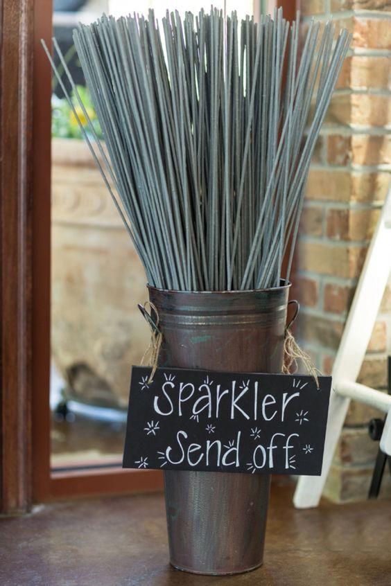 Large sparkler send off display