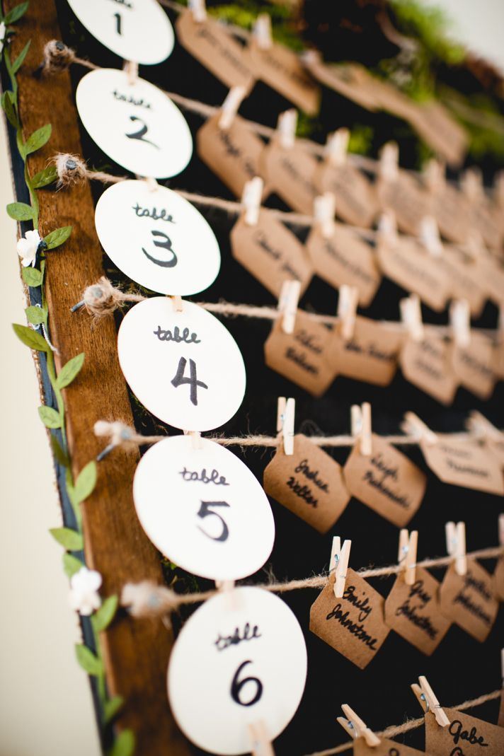 Creative and Eye-catching Wedding Seating Chart