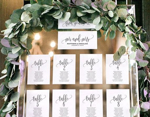 Creative and Eye-catching Wedding Seating Chart 1525724956496641929