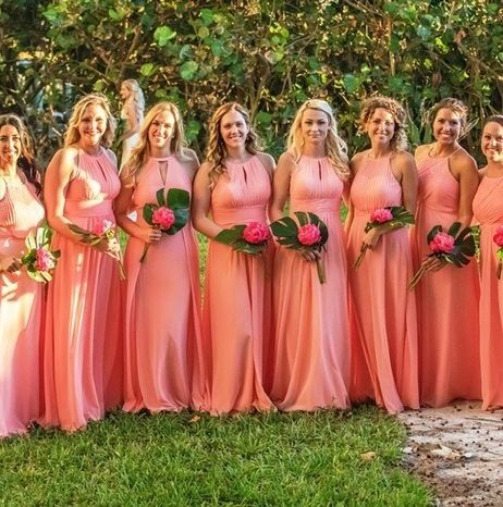 29 Tropical Bridesmaid Dresses To Rock Weddinginclude,50s Audrey Hepburn Style Wedding Dress