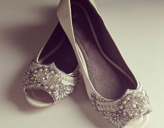 Chic and Comfy Flat Wedding Shoes 1234539093073156318