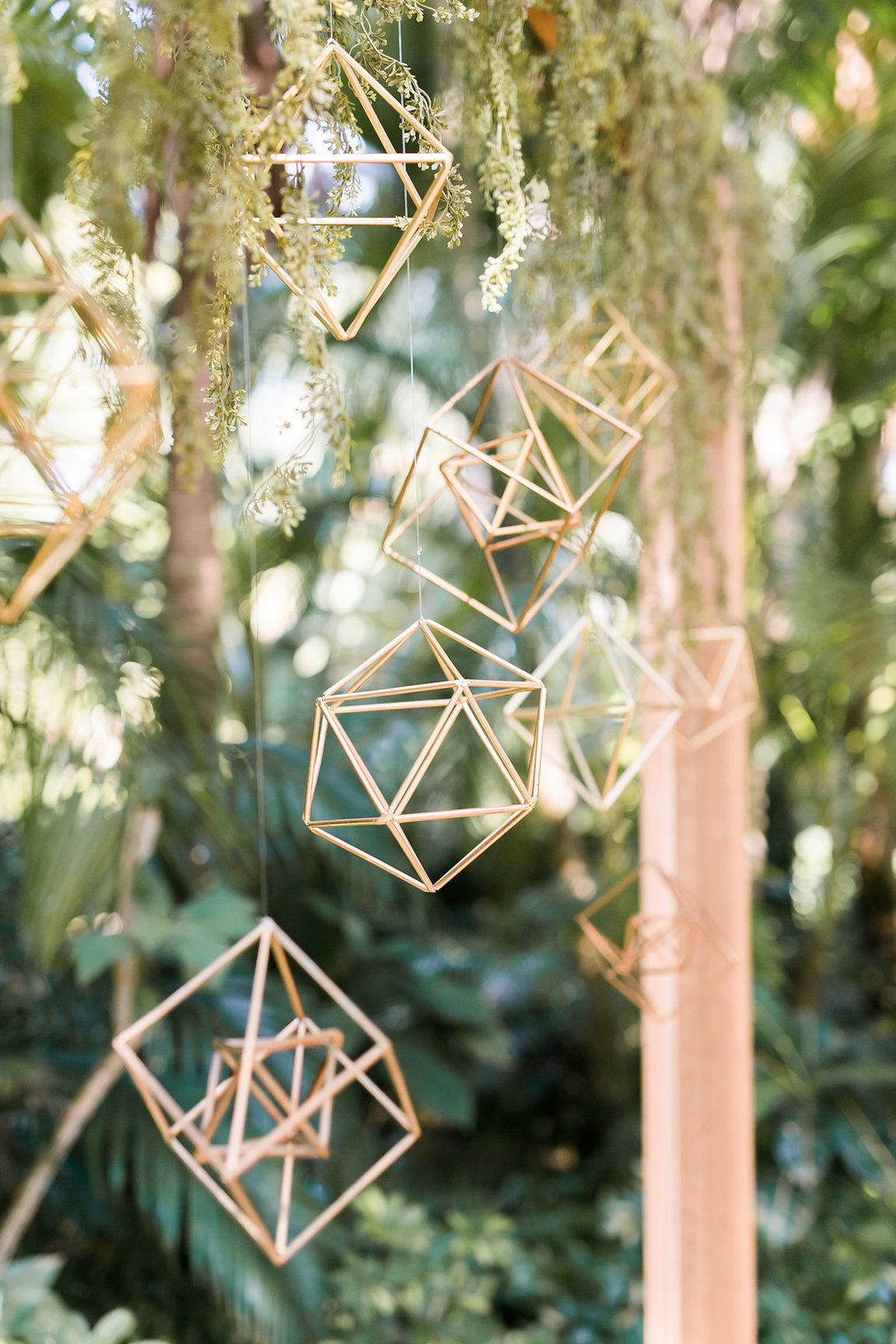 Creative and Stylish Geometric Wedding Decors