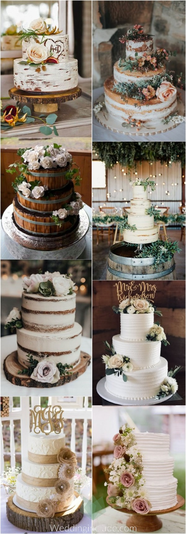 Dreamy Rustic Wedding Cake Idea Everyone Loves