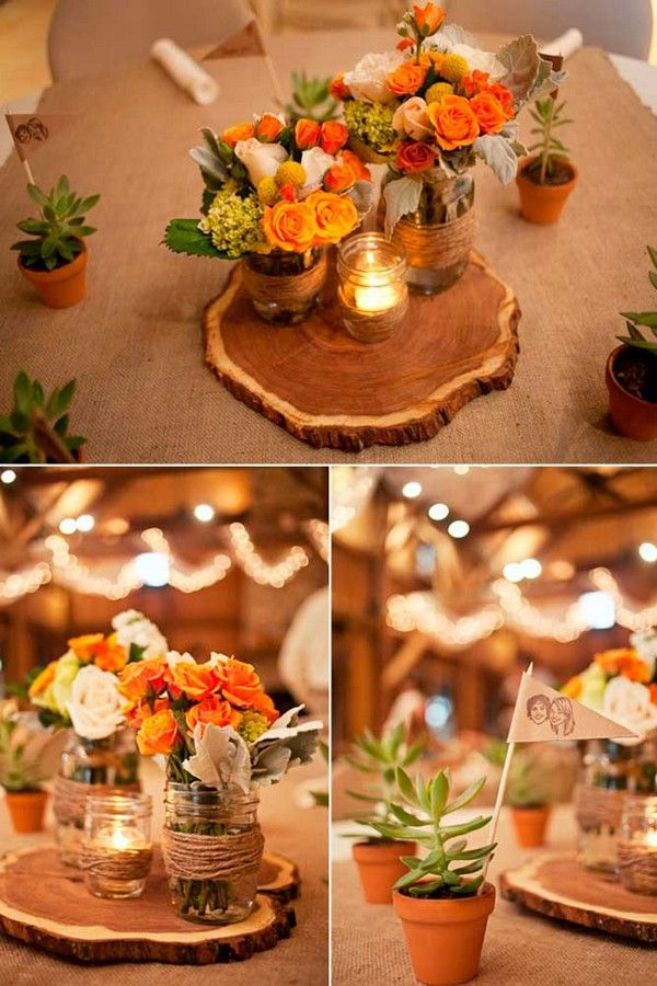 Adorable Fall Wedding Centerpieces to Rock